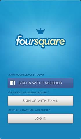Foursquare social check-ins